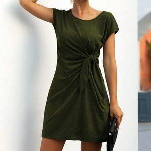 SHEIN Self-Tie Knotted Mini Dress